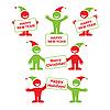 ID 3099211 | Neujahrs Set von Cartoon Menschen | Stock Vektorgrafik | CLIPARTO