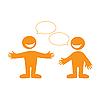 ID 3102340 | Gespräch zwischen zwei Personen | Stock Vektorgrafik | CLIPARTO