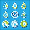 Wassertropfen Icons