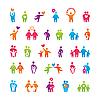 ID 3102445 | Set von Icons - Familie und Liebe | Stock Vektorgrafik | CLIPARTO