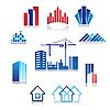 Icons von Gebäuden
