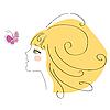 ID 3103328 | Mädchen und Schmetterling | Stock Vektorgrafik | CLIPARTO