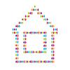 사람들을위한 집 아이콘 | Stock Vector Graphics