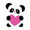 Panda mit einem Herz