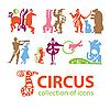 Set von Zirkus-Icons