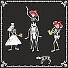 婚礼上的有趣的骷髅 | 向量插图