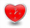 作为时钟的心 | 向量插图