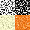 두개골과 뼈와 원활한 패턴 | Stock Vector Graphics