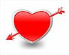 Herz und Pfeil | Stock Illustration