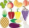 Frutas y verduras | Ilustración vectorial