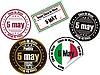 Set von Stempeln zu Cinco de Mayo