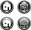 Set von schwarzen Icons für Web-Design