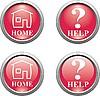Set von roten Web-Icons
