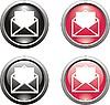 Set von Mail-Icons für Web-Design
