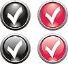 Set von Haken-Icons