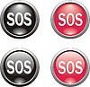 Set von SOS-Icons
