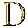 ID 3123177 | Symbol Alfabet złota - wielką literą | Stockowa ilustracja wysokiej rozdzielczości | KLIPARTO