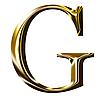 ID 3123182 | Goldenes Alphabet-Symbol - Großbuchstaben | Illustration mit hoher Auflösung | CLIPARTO