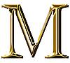ID 3123192 | Goldenes Alphabet-Symbol - Großbuchstaben | Illustration mit hoher Auflösung | CLIPARTO