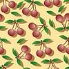 Cherry - seamless pattern y la naturaleza abstracta | Ilustración vectorial