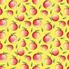 Manzana - Patrón inconsútil y la naturaleza de fondo abstracto | Ilustración vectorial