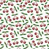 Cherry - patrón inconsútil y la naturaleza abstracta | Ilustración vectorial