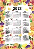 Calendario 2013 en marco colorido | Ilustración vectorial