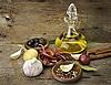 橄榄油和香料 | 免版税照片