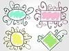 Zabawne kolorowe ramki | Stock Vector Graphics