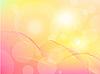 摘要粉红色的黄色背景 | 向量插图