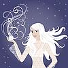 ID 3106447 | Schöne junge blonde Winter-Frau | Stock Vektorgrafik | CLIPARTO