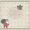 Kartka świąteczna z Mikołajem | Stock Vector Graphics