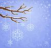 Zimowe tła z płatki śniegu | Stock Vector Graphics