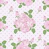 Seamless romantyczny wzór z róż | Stock Vector Graphics