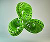 3D绿色抽象的形状 | 光栅插图