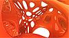 3D橙色抽象的形状 | 光栅插图