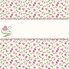 ID 3128764 | Valentine's pattern with hearts and roses | Klipart wektorowy | KLIPARTO