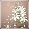 Piękne karty wiosna z kwiatów lilii | Stock Vector Graphics