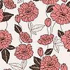 Bez szwu deseń z kwiatów maku | Stock Vector Graphics