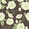 罂粟花的无缝模式 | 向量插图