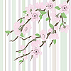 Sakura gałęzi z kwiatami | Stock Vector Graphics