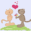 Zwei Katzen in der Liebe