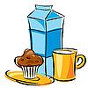 Молочный завтрак | Векторный клипарт