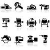 Set von Icons Werkzeugen