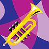 Векторный клипарт: музыкальная труба
