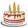 Праздничный торт | Векторный клипарт