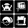 Набор иконок инструментов | Векторный клипарт