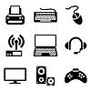 Компьютерных устройств иконки | Векторный клипарт