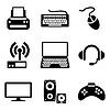 Computer-Geräte Icons | Stock Vektrografik