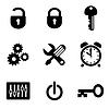 Ustawienia komputera ikony | Stock Vector Graphics